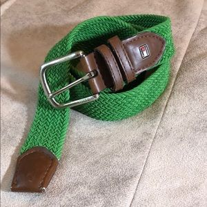 Tommy Hill figure green stretch belt size M